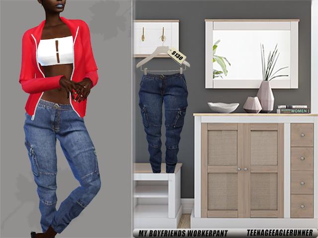 Boyfriends Style jeans & jacket at Teenageeaglerunner image 206 Sims 4 Updates