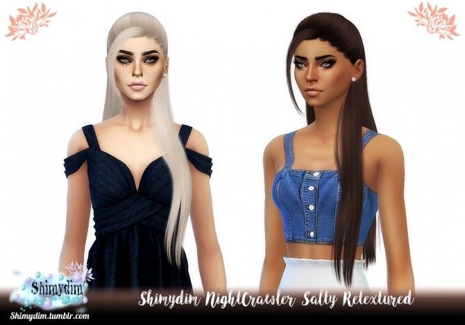 Sims 4 NightCrawler Salty Hair Retexture Naturals + Unnaturals at Shimydim Sims