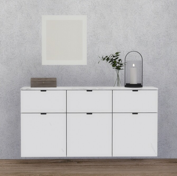 Nordli Wall Hanged Sideboard & some clutter at Heurrs image 209 670x668 Sims 4 Updates