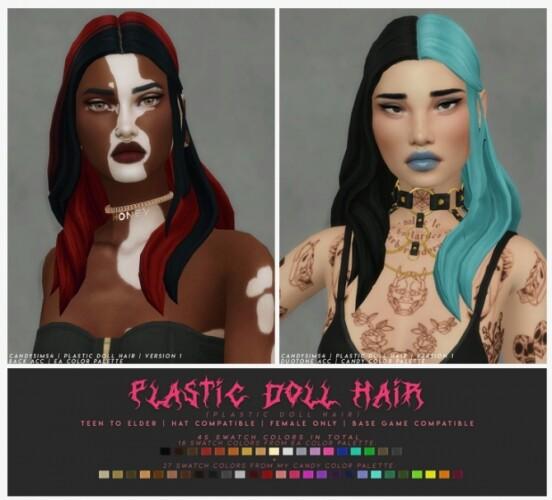 PLASTIC DOLL HAIR