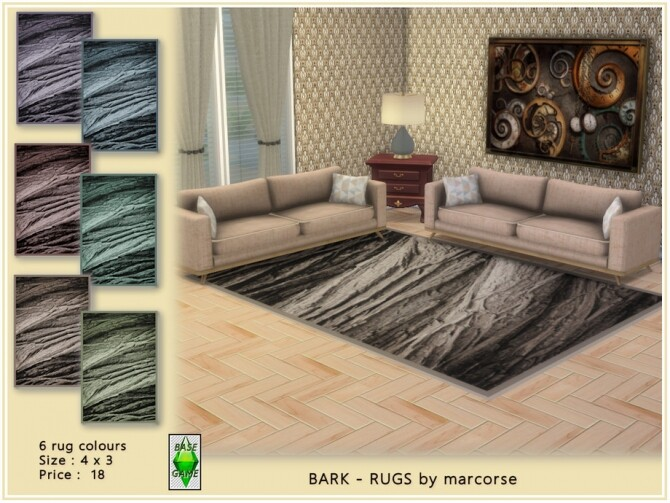 Sims 4 Bark Rugs by marcorse at TSR