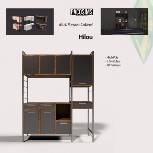 Hilou Multi Purpose Cabinet