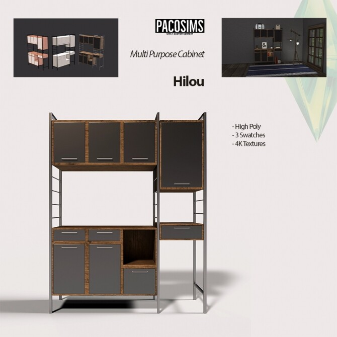 Hilou Multi Purpose Cabinet (P) at Paco Sims image 2105 670x670 Sims 4 Updates
