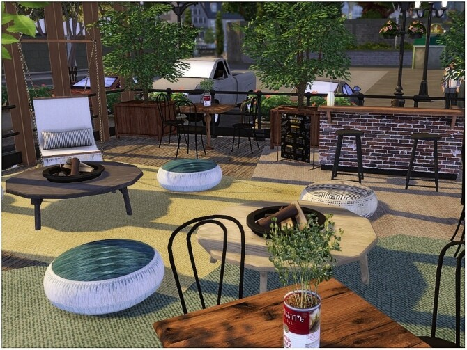 Wooden Cafe by lotsbymanal at TSR image 2106 670x503 Sims 4 Updates