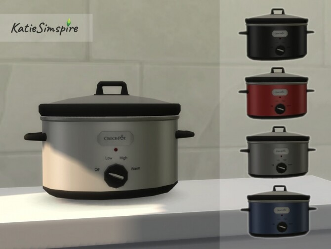 Sims 4 Crock Pot Slow Cooker by Katiesimspire at TSR