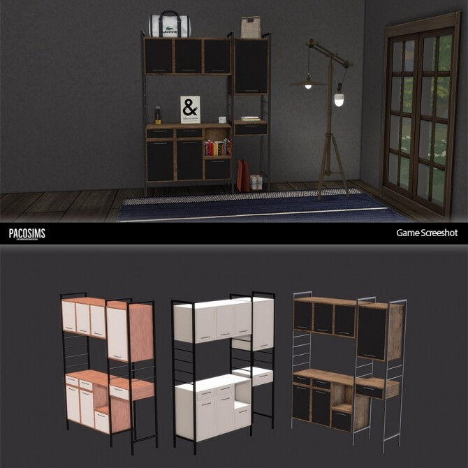Hilou Multi Purpose Cabinet (P) at Paco Sims image 21110 670x670 Sims 4 Updates