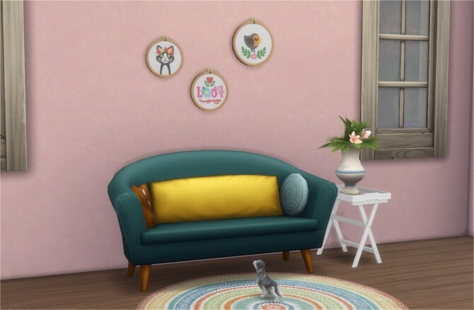 Sims 4 Madame Crumplebottom's Embroidery Paintings Separated at Veranka