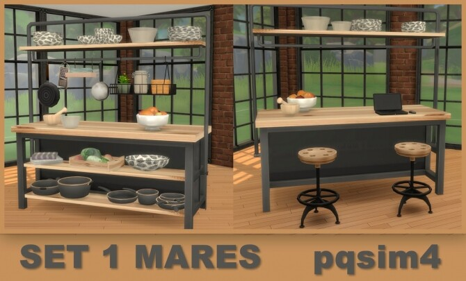 Mares set industrial style