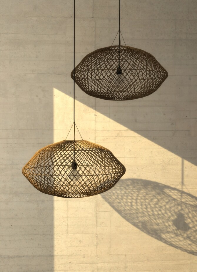 Sims 4 Bamboo Lamp at Hephaestion Sims