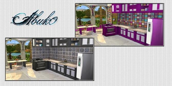 Cucina Kitchen 9 recolors at Abuk0 Sims4 image 2184 670x335 Sims 4 Updates