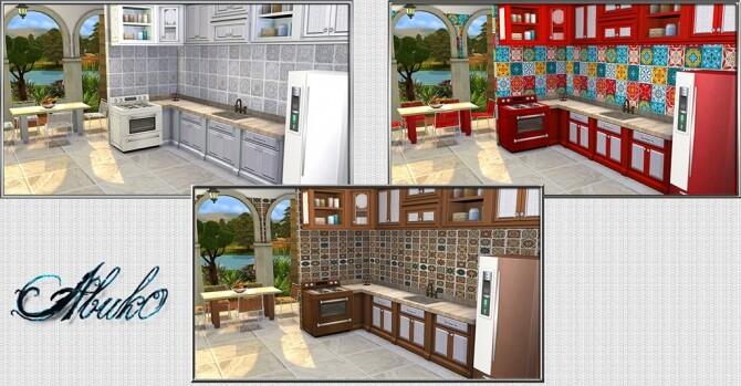 Cucina Kitchen 9 recolors at Abuk0 Sims4 image 2194 670x349 Sims 4 Updates