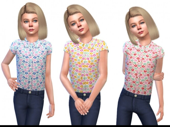 Blouse for Girls 01 by Little Things
