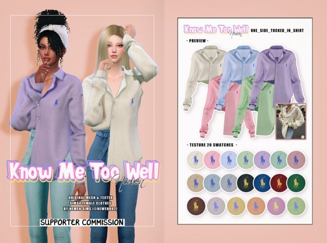 Sims 4 Know Me Too Well Collection at NEWEN