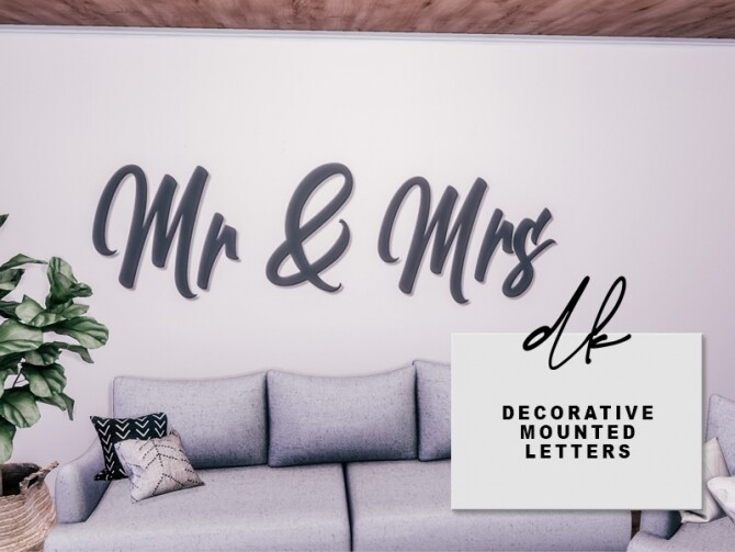 Sims 4 Decorative Mounted Letters at DK SIMS