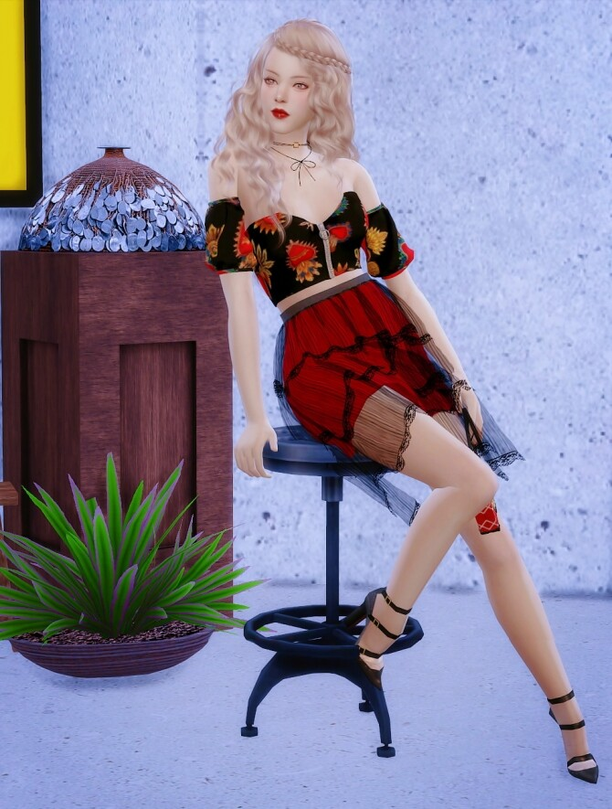 Sims 4 Adele at Vicky SweetBunny
