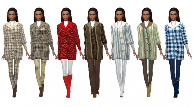 Sims 4 RENORASIMS' TEDDY COAT at Sims4Sue