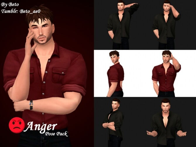 Anger Pose pack by Beto ae0 at TSR image 2310 670x503 Sims 4 Updates