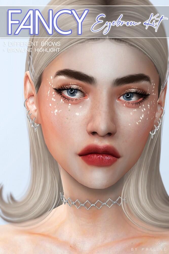 Fancy eyebrow kit at Praline Sims image 2314 667x1000 Sims 4 Updates