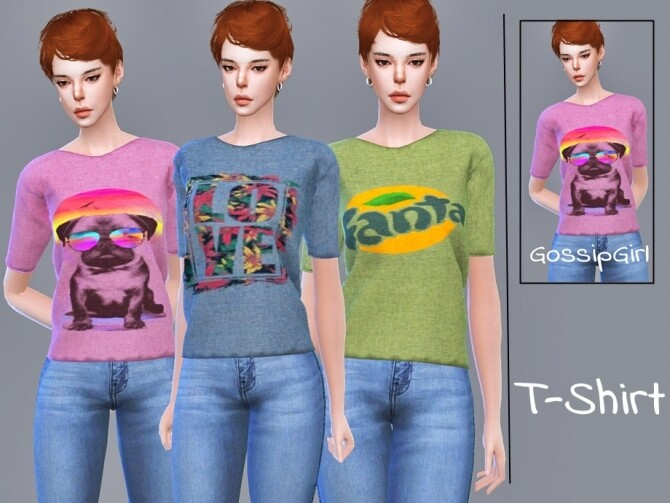Sims 4 T Shirt by GossipGirl S4 at TSR