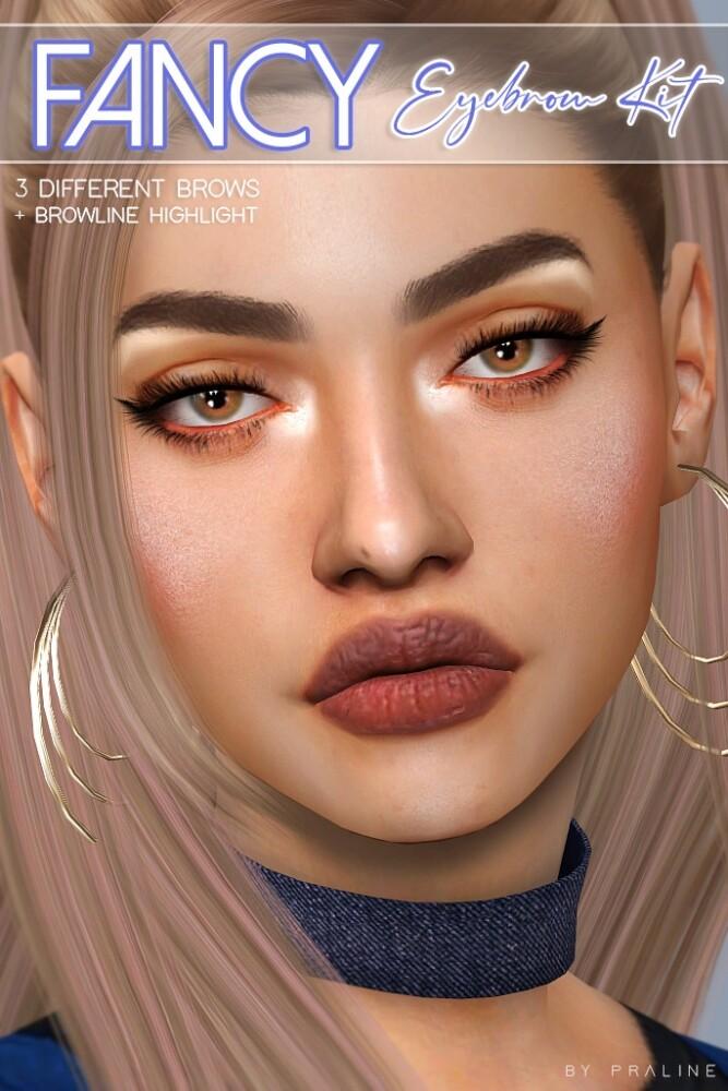 Fancy eyebrow kit at Praline Sims image 2322 667x1000 Sims 4 Updates