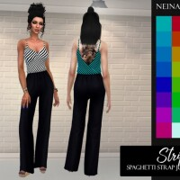 Stripes Spaghetti Strap Jumpsuit by neinahpets