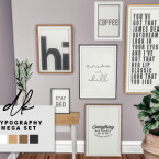 Typography mega set