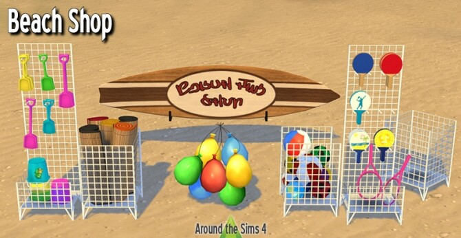 Beach shop & activities at Around the Sims 4 image 239 670x346 Sims 4 Updates