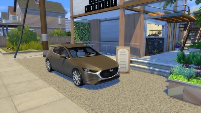 Sims 4 Mazda 3 at LorySims