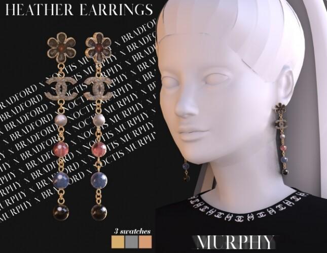 Heather Earrings by Silence Bradford