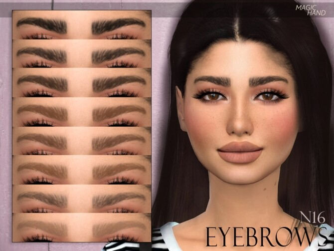 Sims 4 Eyebrows N16 by MagicHand at TSR