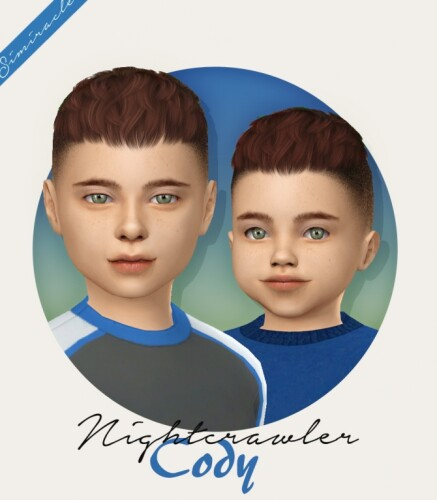 Nightcrawler Cody hair for toddlers and kids