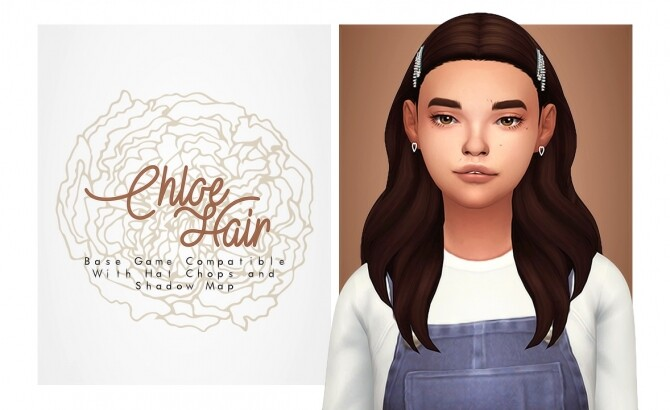 Chloe Hair with lil clips on the sides at Isjao image 2423 670x410 Sims 4 Updates