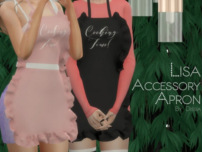 Sims 4 Lisa Apron Accessory by Dissia at TSR