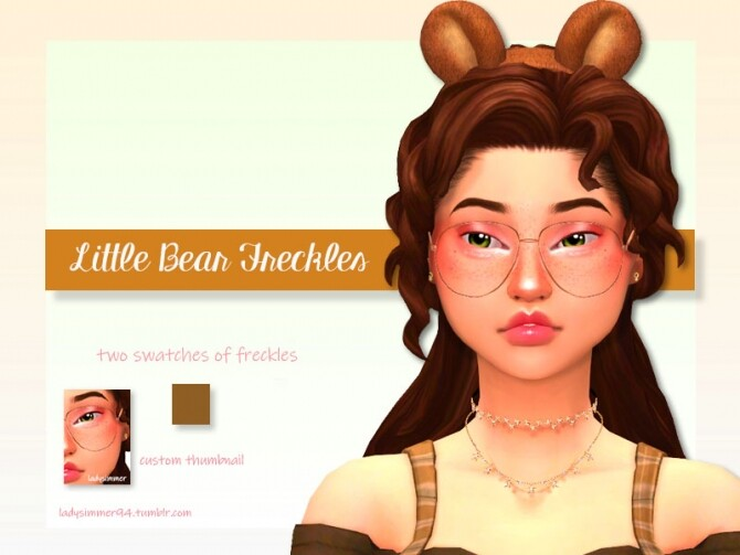Sims 4 Little Bear Freckles by LadySimmer94 at TSR