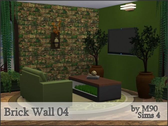 Sims 4 M90 Brick Wall 04 by Mircia90 at TSR