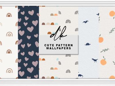 Sims 4 Cute Pattern Wallpapers at DK SIMS