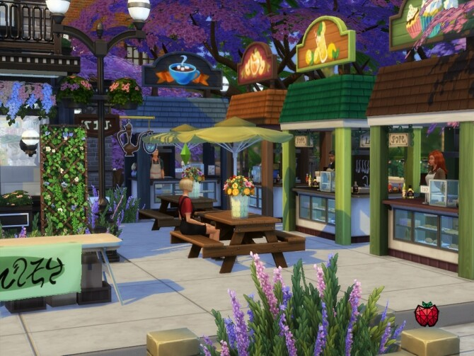 Daisy flower shop no cc by melapples at TSR image 2510 670x503 Sims 4 Updates