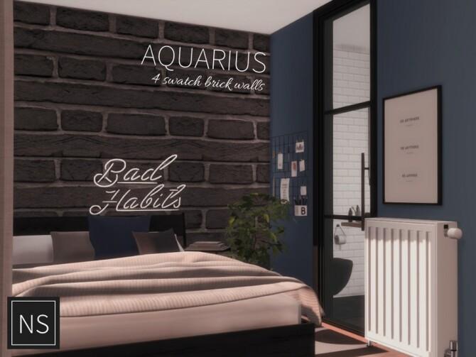 Sims 4 Aquarius Brick Walls by Networksims at TSR