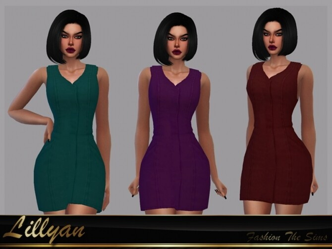 Sims 4 Dress Maia by LYLLYAN at TSR