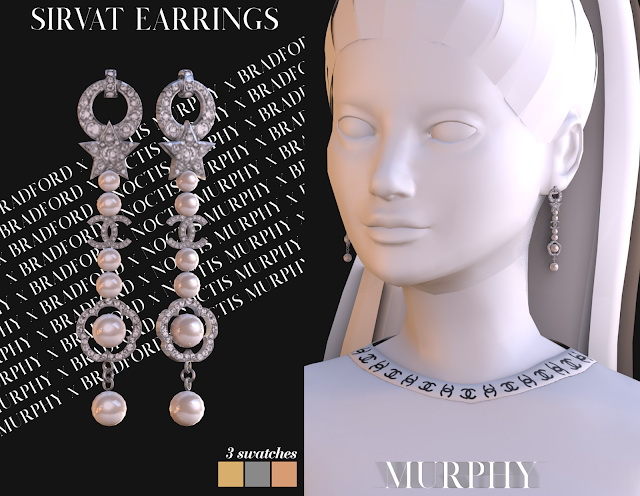 Sirvat Earrings by Silence Bradford at MURPHY image 2582 Sims 4 Updates