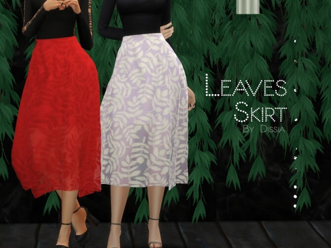 Sims 4 Leaves Skirt by Dissia at TSR