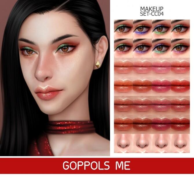 GPME GOLD MAKEUP SET CC04 at GOPPOLS Me image 2612 670x613 Sims 4 Updates