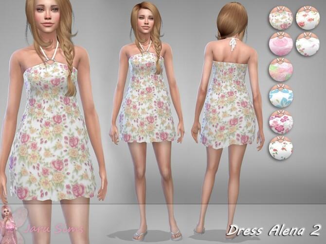 Dress Alena 2 by Jaru Sims at TSR image 2615 670x503 Sims 4 Updates