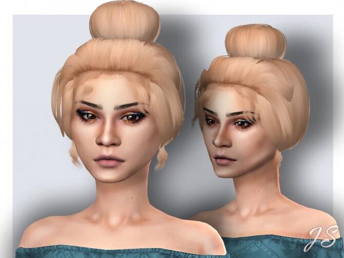 Sims 4 Stress Bun Hair by JavaSims at TSR
