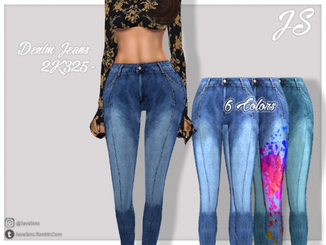 Denim Jeans 2K325 by JavaSims at TSR image 264 670x503 Sims 4 Updates
