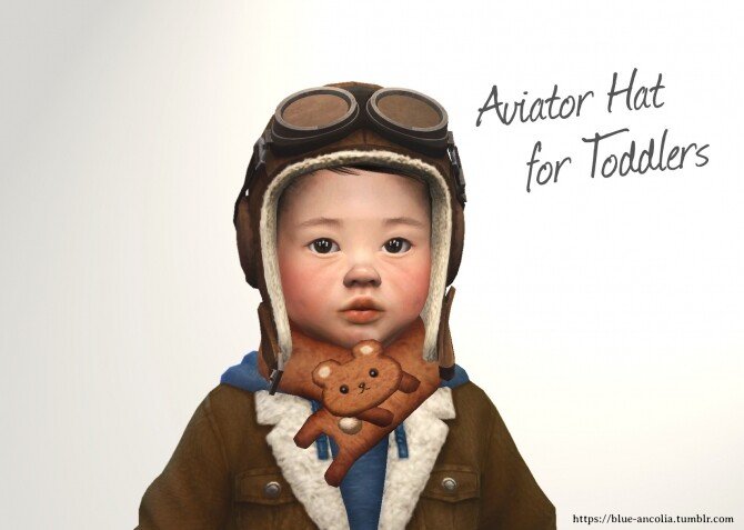 Aviator Cap Converted and retextured for the little ones