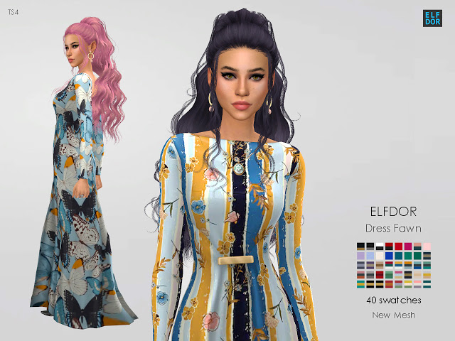 Dress Fawn at Elfdor Sims image 2683 Sims 4 Updates