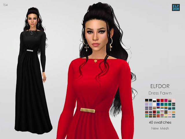 Dress Fawn at Elfdor Sims image 2693 Sims 4 Updates