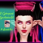D Cyberpunk Eyeshadow V2 by Reevaly