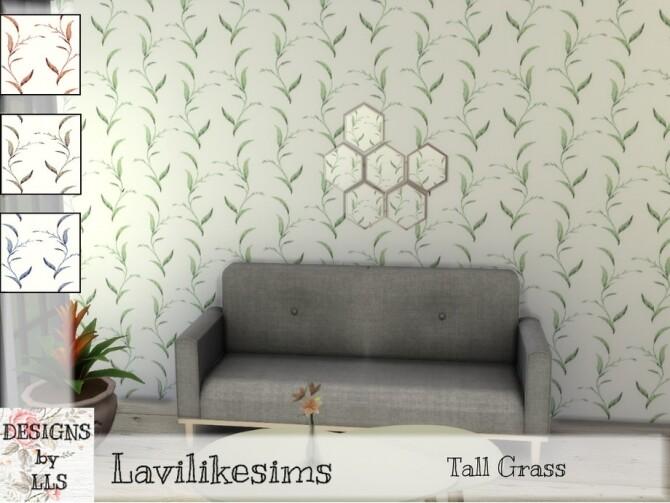 Sims 4 Tall Grass wallpaper by lavilikesims at TSR